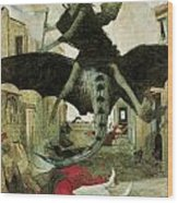 The Plague Wood Print