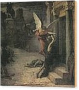 The Plague In Rome Wood Print