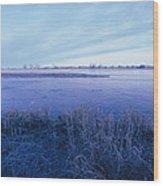 The Platte River In Central Nebraska Wood Print