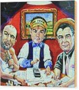 The Poker Game Wood Print