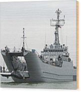 The Polish Lublin-class Minelayer Orp Wood Print