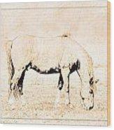 The Pony Wood Print