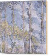 The Poplars Wood Print by Claude Monet