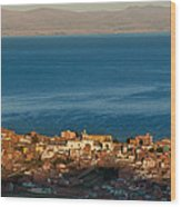 The Population Of Copacabana On The Shores Of Lake Titicaca. Republic Of Bolivia. Wood Print