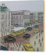 The Portsmouth Ohio Post Office On The Esplanade 1948 Wood Print