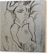 The Pose Wood Print