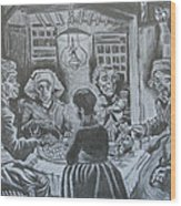 The Potato Eaters By Vincent Van Gogh Wood Print