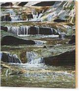 The Potholes Wood Print by Virginia Folkman