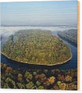 The Potomac River Makes A Hairpin Turn Wood Print