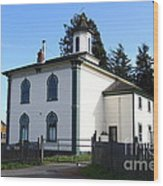 The Potter School House . Bodega Bay . Town Of Bodega . California . 7d12472 Wood Print by Wingsdomain Art and Photography