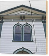 The Potter School House . Bodega Bay . Town Of Bodega . California . 7d12482 Wood Print by Wingsdomain Art and Photography