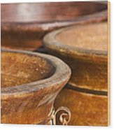 The Potters Terracotta Wares Wood Print