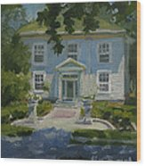 The President's White House Wood Print