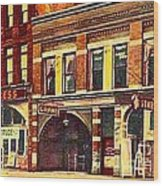 The Princess And Grand And Star Theatres On Amusement Row State Street In Erie Pa In 1910 Wood Print