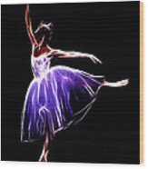 The Princess Dancer Wood Print