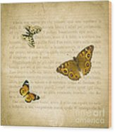 The Printed Page 1 Wood Print