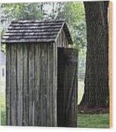 The Privy Wood Print