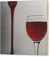 The Promised Wine Wood Print