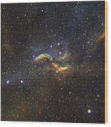 The Propeller Nebula Wood Print