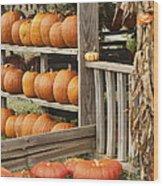 The Pumpkin Shack At Isom's Orchard Wood Print