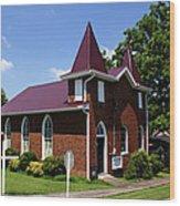 The Purple Church Wood Print