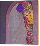 The Purple Lantern Wood Print