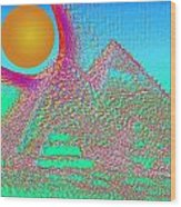 The Pyramids Wood Print