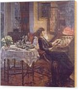 The Quiet Hour Wood Print by Albert Chevallier Tayler