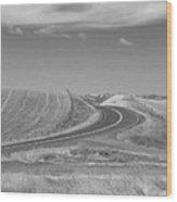 The Quiet Road Wood Print