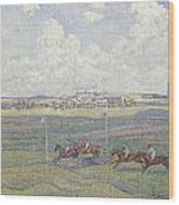 The Racecourse At Boulogne-sur-mer Wood Print