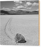 Death Valley California The Racetrack 2 Wood Print