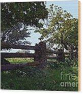The Rail Fence Wood Print