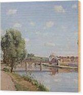The Railway Bridge Wood Print