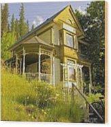 The Rainbow House Wood Print