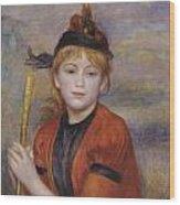 The Rambler Wood Print by Pierre Auguste Renoir