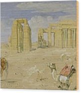 The Ramesseum At Thebes Wood Print