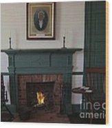 The Rankin Home Fireplace Wood Print