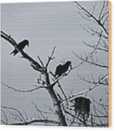 The Raven Tree Wood Print