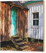 The Reagan House Kitchen Wood Print