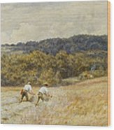 The Reapers Wood Print by Helen Allingham