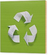 The Recycling Mark Made From The Data Of Paper Wood Print