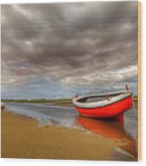 The Red Boat Wood Print