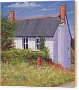 The Red Milk Churn Wood Print by Anthony Rule