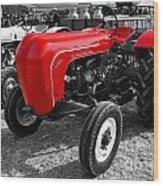 The Red Porsche Wood Print