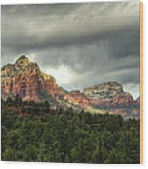 The Red Rocks Of Sedona  Wood Print