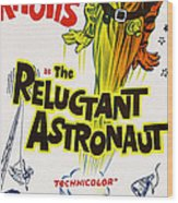 The Reluctant Astronaut, Upper Right Wood Print