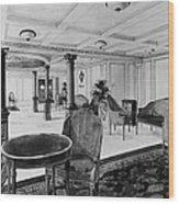 The Restaurant Reception Room Wood Print by Everett