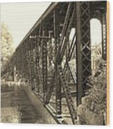 The Retired Railroad Bridge Wood Print
