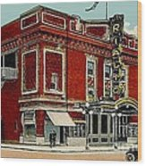The Rialto Theatre In Brooklyn N Y In The 1920's Wood Print