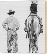 The Riding Lesson Wood Print